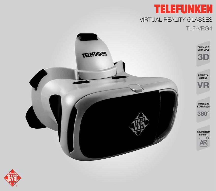 Lentes de Realidad Virtual VR TELEFUNKEN TLF-VRG4