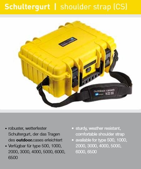 B&W Correa de Transporte para Type 500  y1000 Modelo CS500 Negro