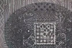 """EL ACERTIJO"" NeoCrotalic Mexican Art Original Artwork 2"