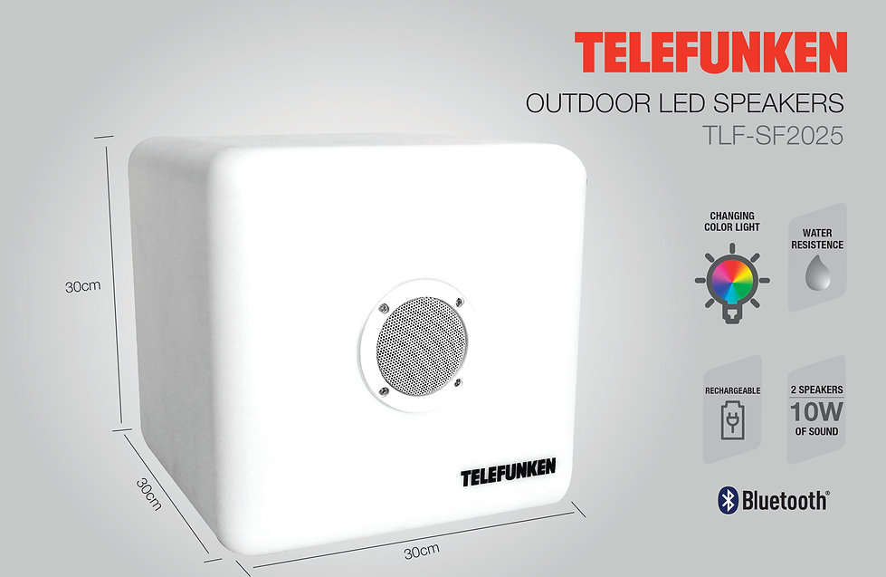 TLF-SF2025 Bocina LED Waterproof Telefunken Recargable