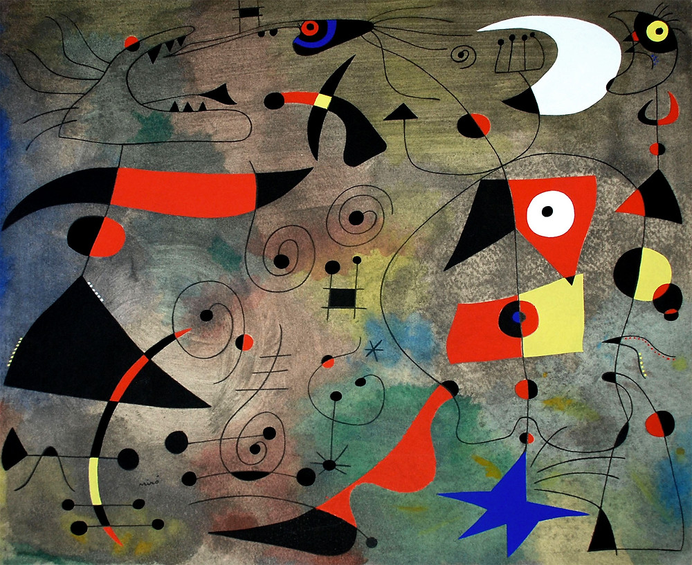 Miro Painting at the Grand Master's Palace in Valletta