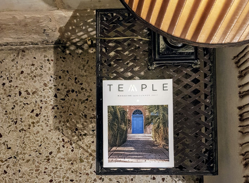 TEMPLE magazine at Valletta Suites