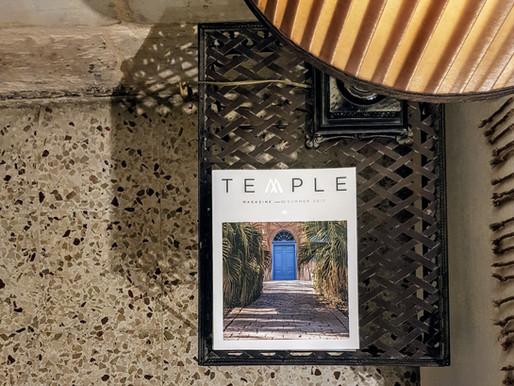TEMPLE magazine at Valletta Suites