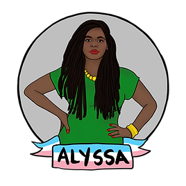 Digital illustration portrait of Comrade Alyssa
