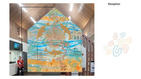 Tomaree Community Hospital Reception mural