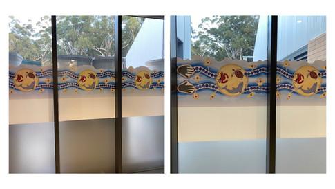 Tomaree Community Hospital window artworks