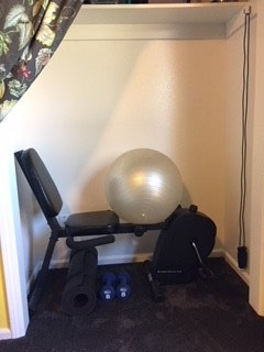 gym in a closet