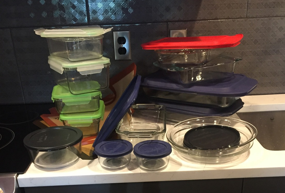 how to fit all your glass cookware and glass storage containers in the cupboard