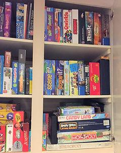 game storage upper cabinet