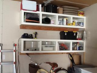 horizontal garage shelves