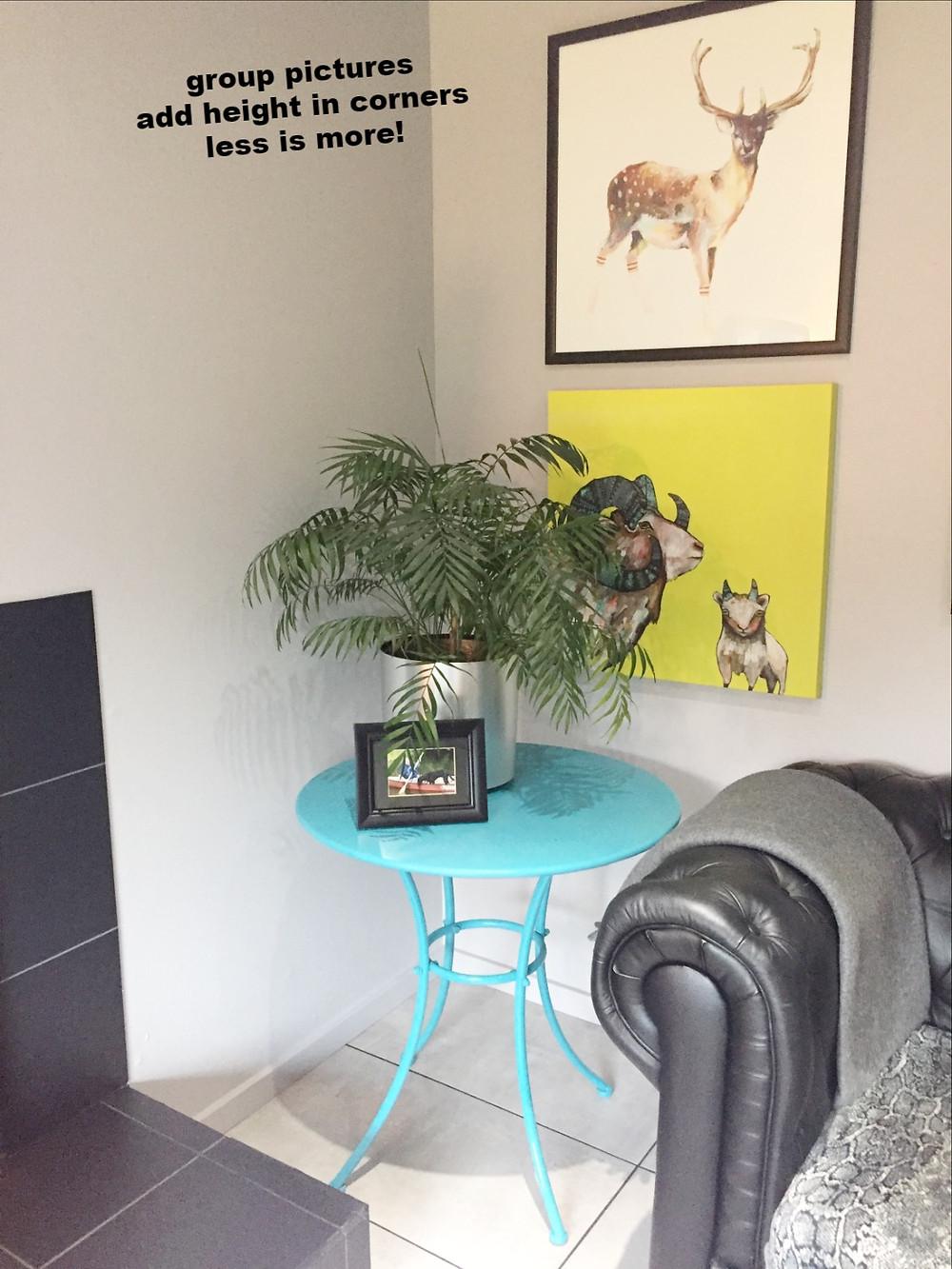 minimal decorating
