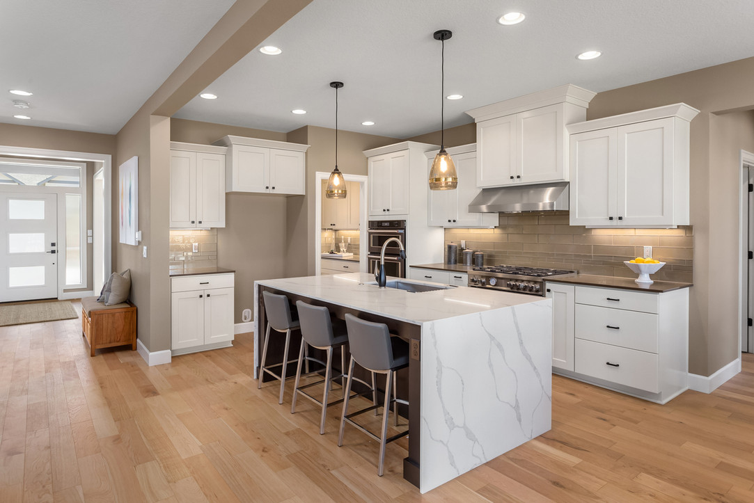 White Shaker and Calacatta Kitchen.jpg