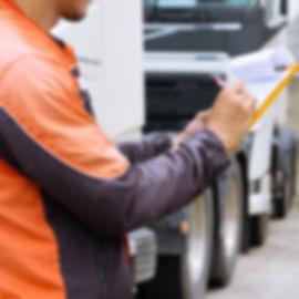 Professional truck driver checks list a