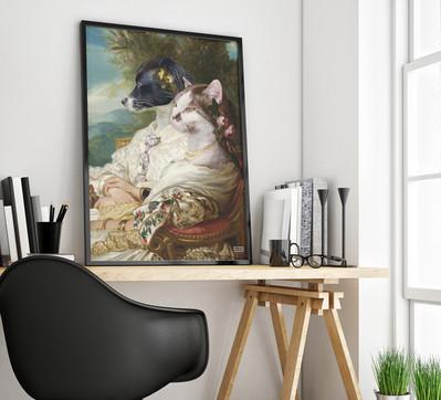 Ritratto cane e gatto
