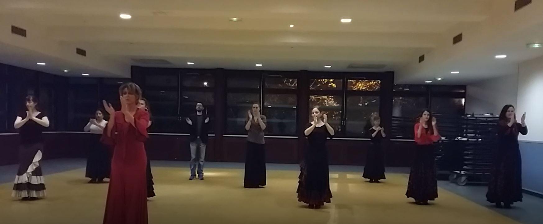 Cours flamenco avancé au CSC l'Escale