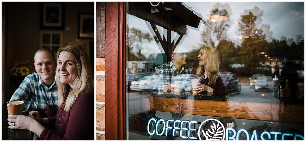 Caffe Vero Coffee shop engagement session