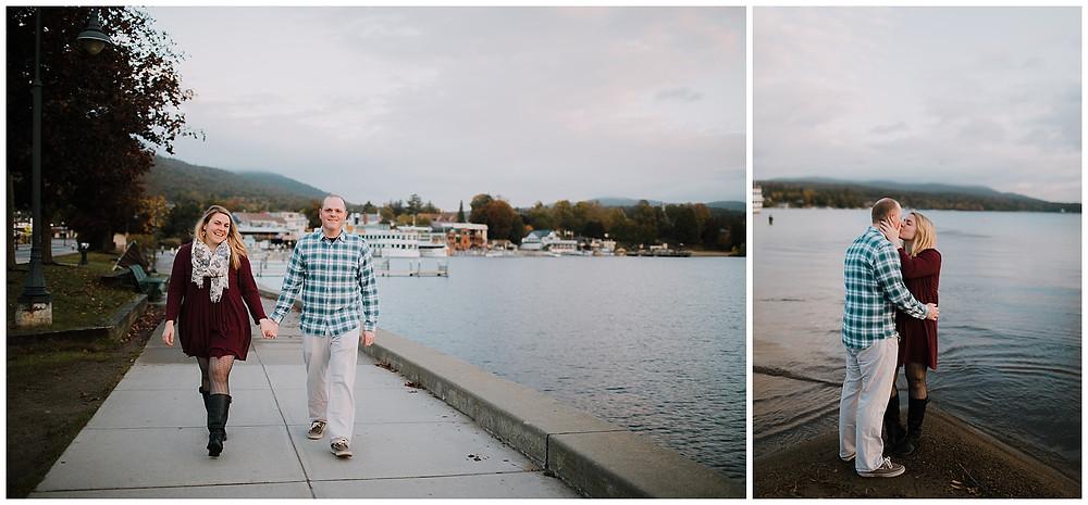 The board walk in Lake George