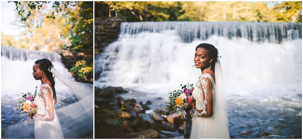 Otter Creek Waterfall Bridal Portraits