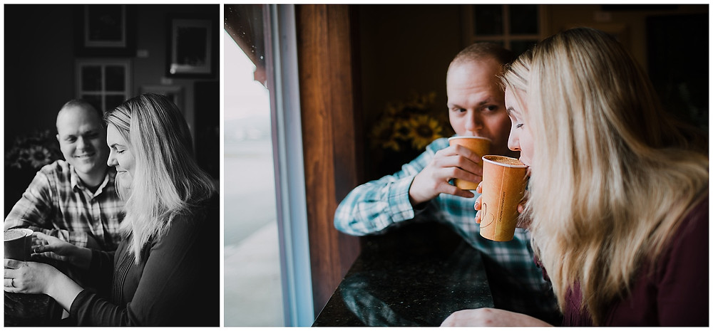 Coffee at Caffe Vero and Engagement photos