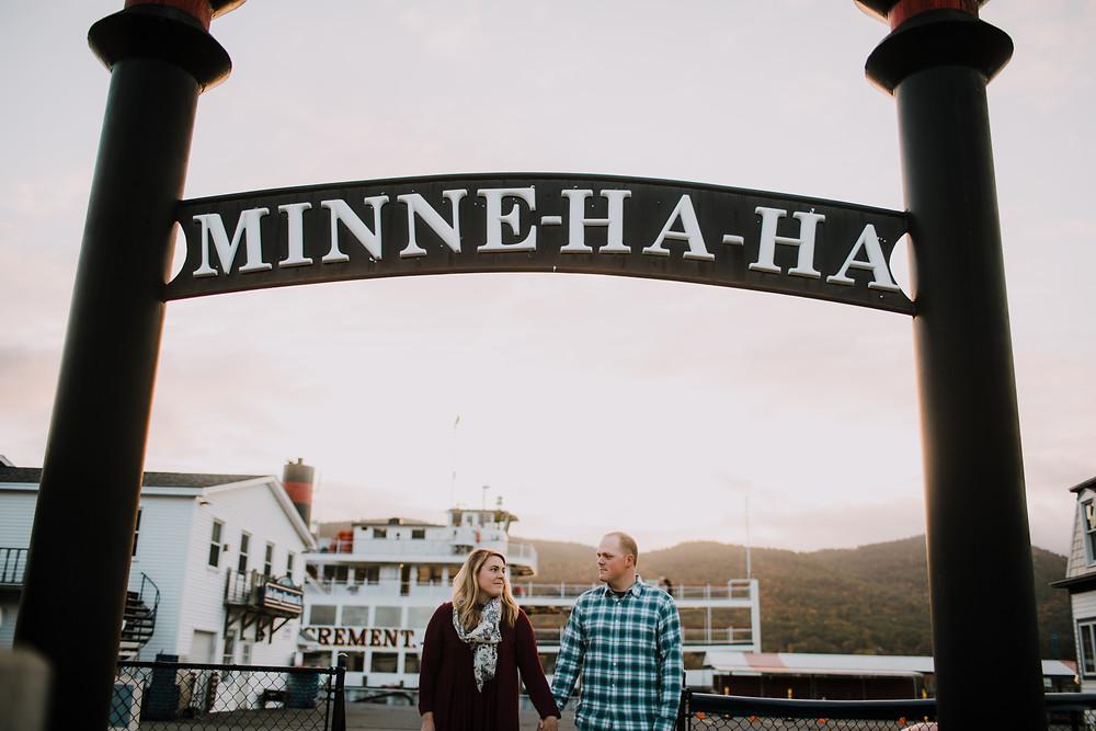 The beautiful Minne Ha Ha Steamboat sign