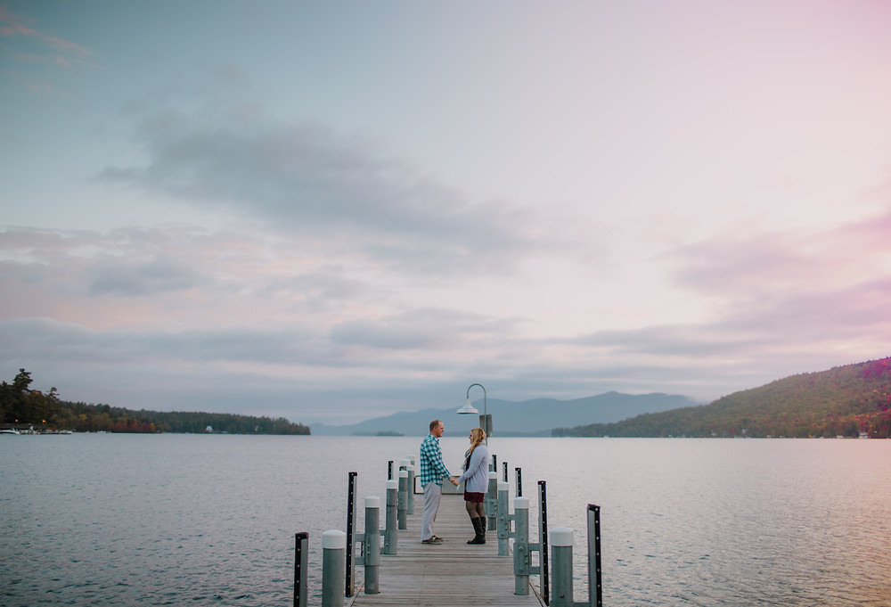Surprise Proposal at the Lake George docks