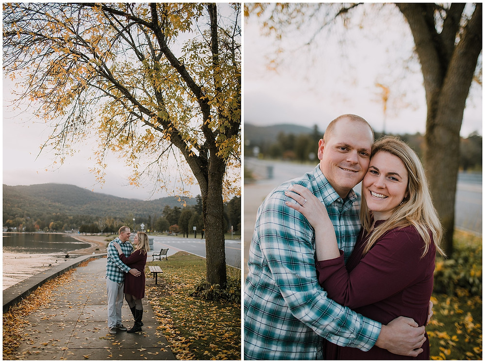 A fall engagement session with perfect leaf colors