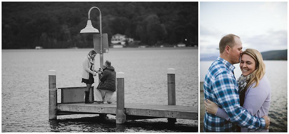 Surprise proposal in Lake George