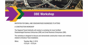 RTA DBE Workshop Postponed