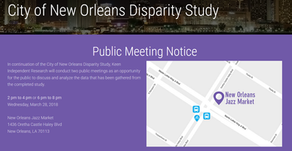 Disparity Study Public Meetings This Wednesday