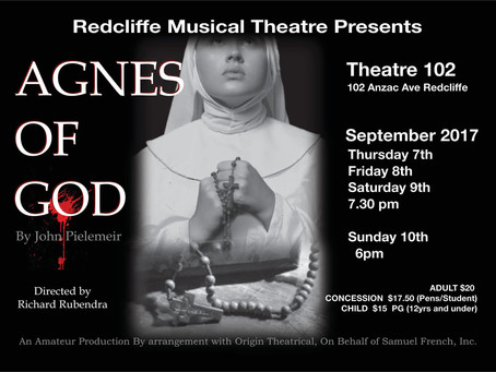 "Redcliffe Musical Theatre's ""Agnes Of God"" Depicts Intriguing Battle Between Faith And Reason"