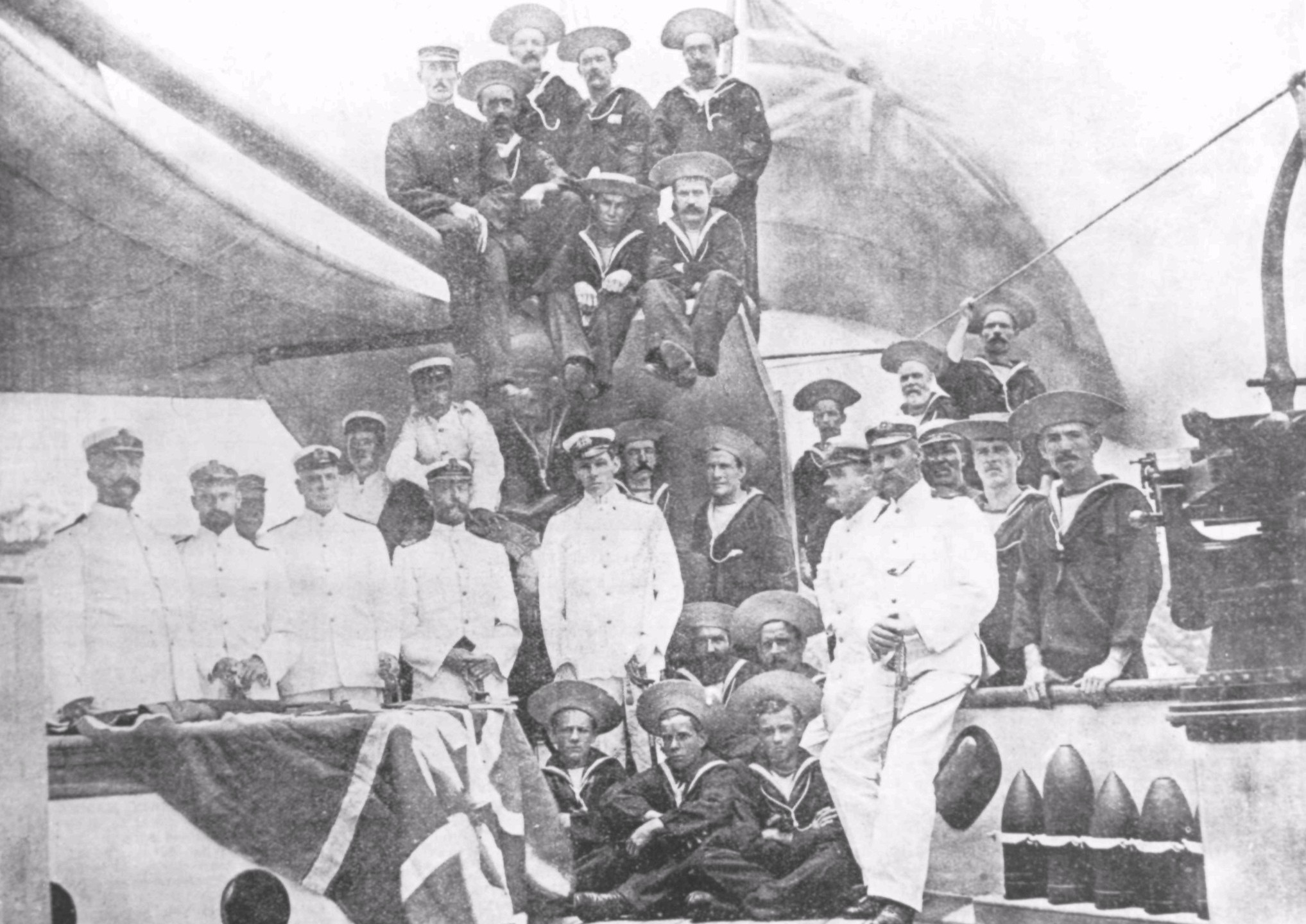 Gayundah and crew while serving in the Queensland Maritime Defence Force