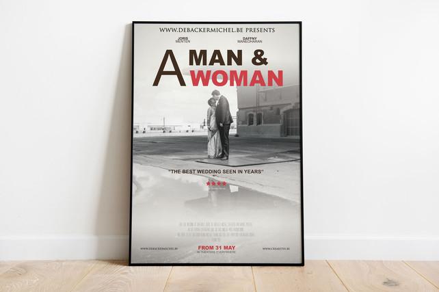 Poster ontwerp huwelijk