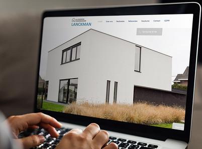 Website design bouwonderneming Lanckman