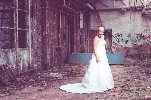 Bruid en haar prachtige kleed