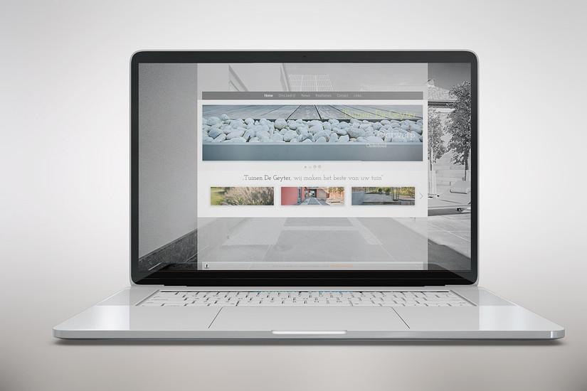 Web design tuinen De Geyter