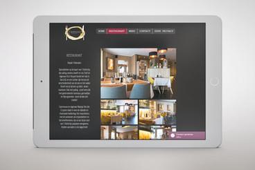 Website design restaurant 't Kofschip