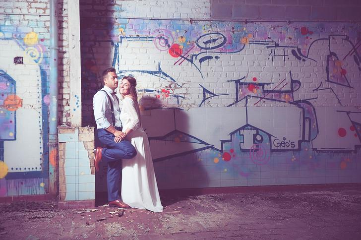 Graffiti en trouwen