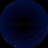 logo tearing waves