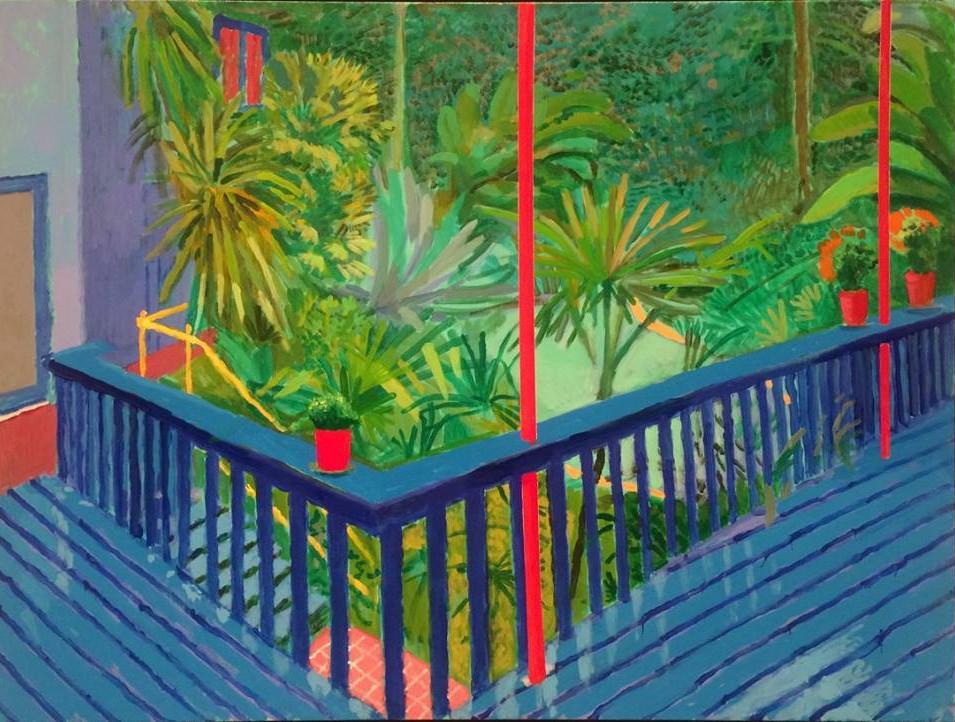 """""""Garden #3"""" (David Hockney, 2016)"""