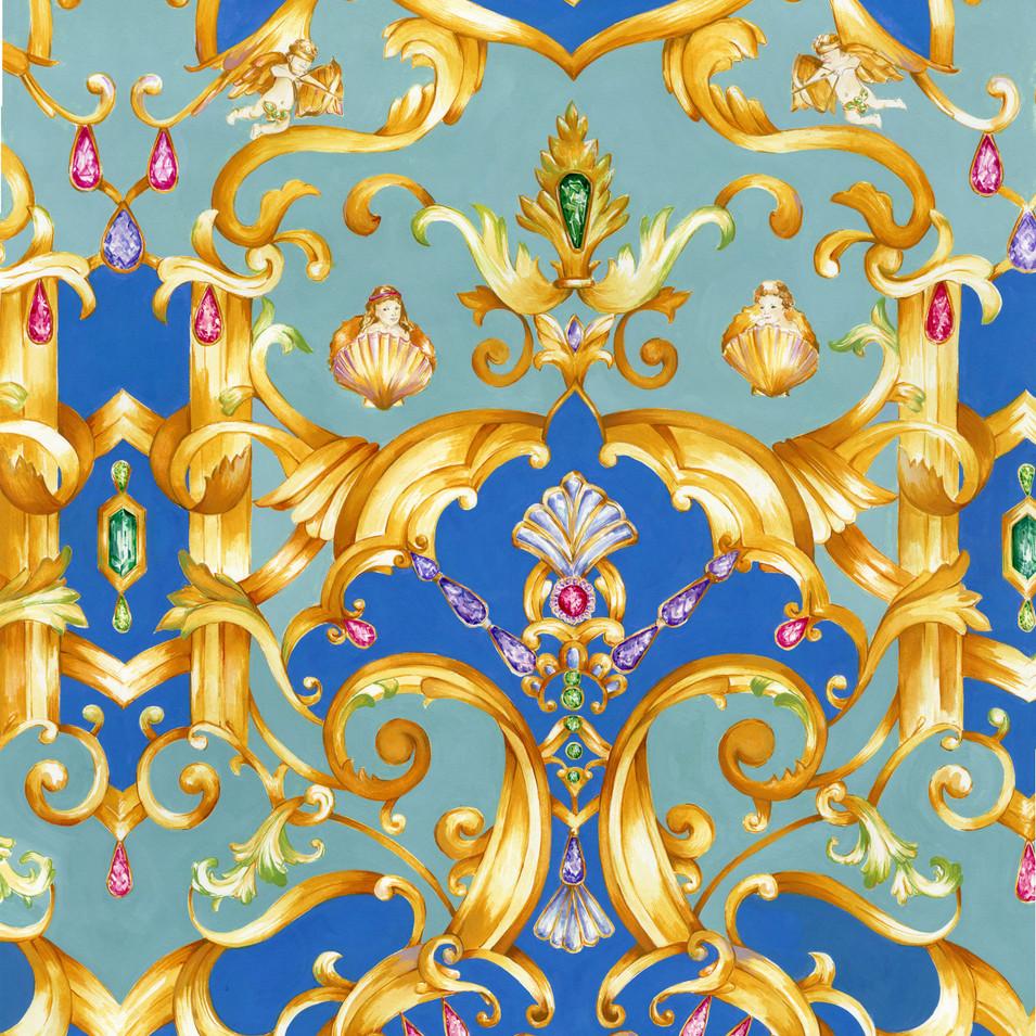 """Rococo inspired """"Ornate- repeat"""" (2019)"""