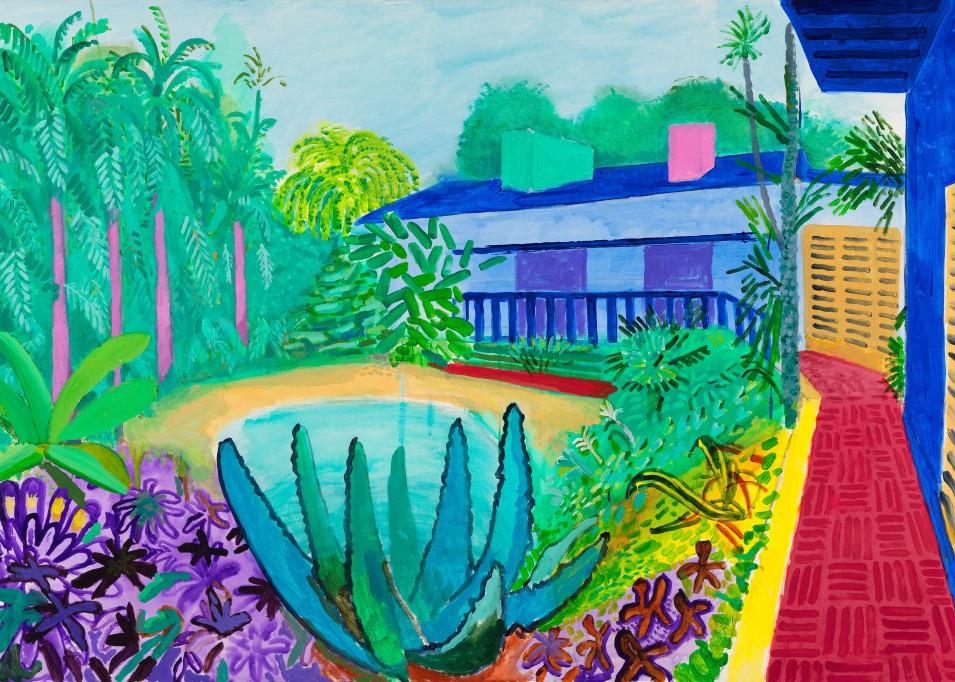 """""""Garden"""" (David Hockney, 2016)"""
