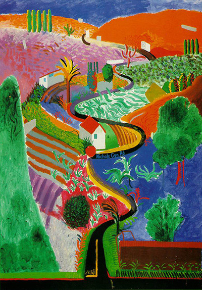 """Nichols Canyon"" (David Hockney, 1980)"