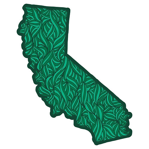 California Psychedelic Sticker