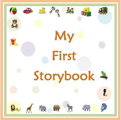 My First Storybook - Keepsake Memory Book and a Photo Album for Baby's First Yea