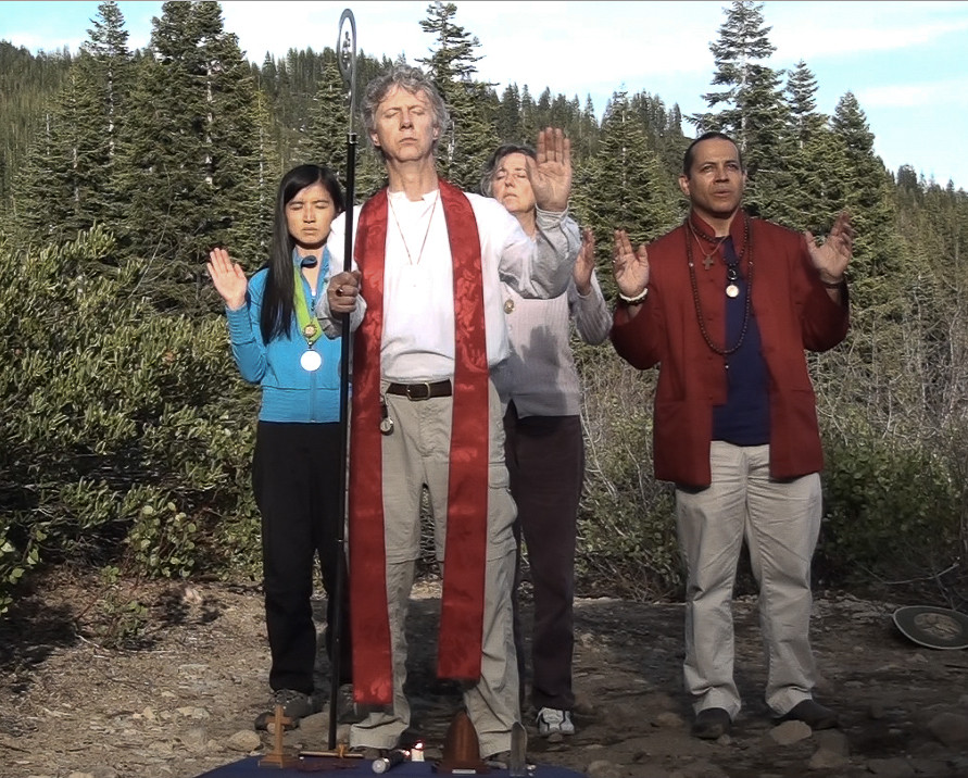 Eclipse ceremony in Mt. Shasta, USA