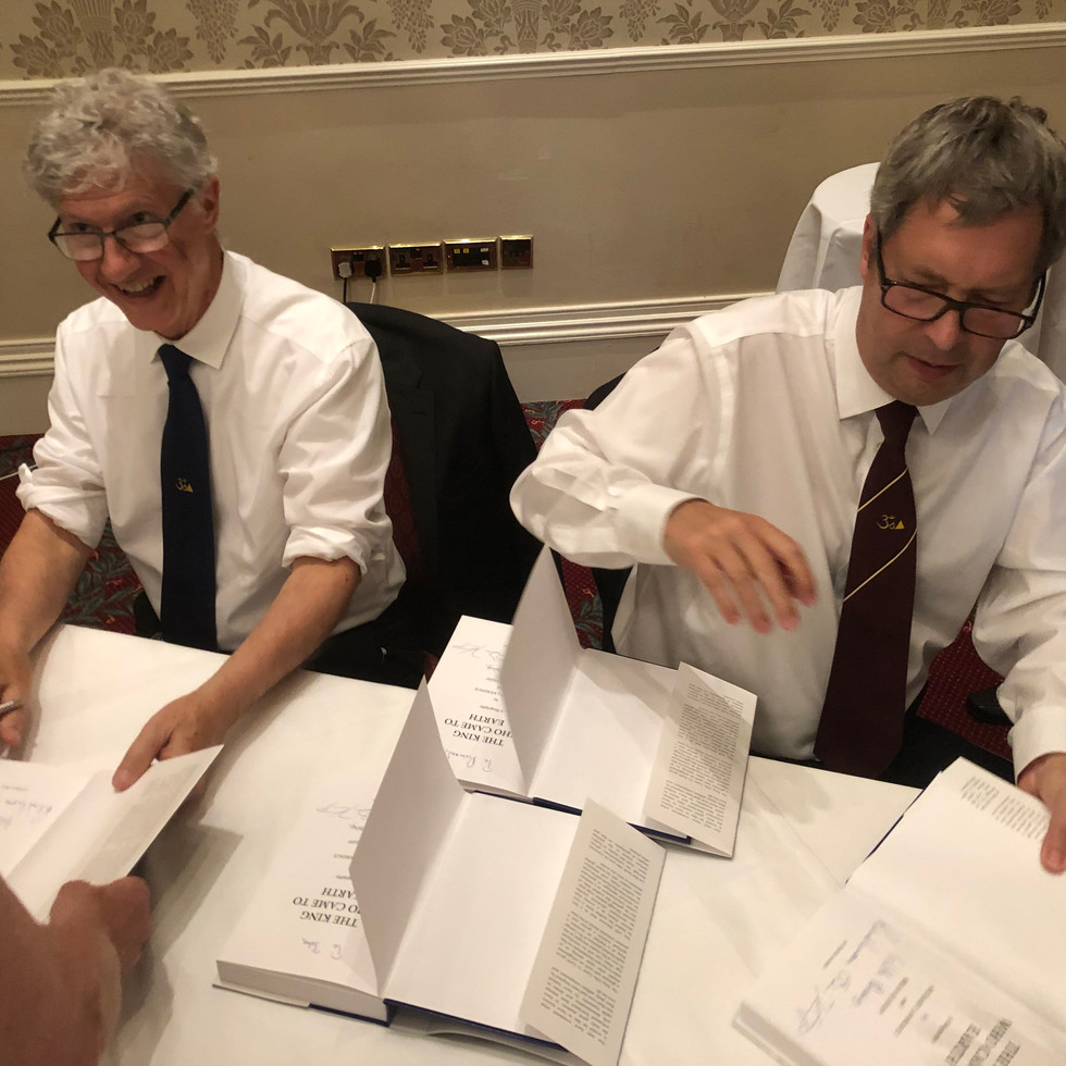 Signing away at the Guisborough book launch