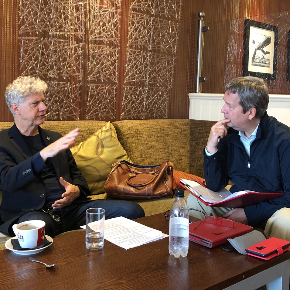Meeting soon after my arrival in the UK to discuss final details before the book launch