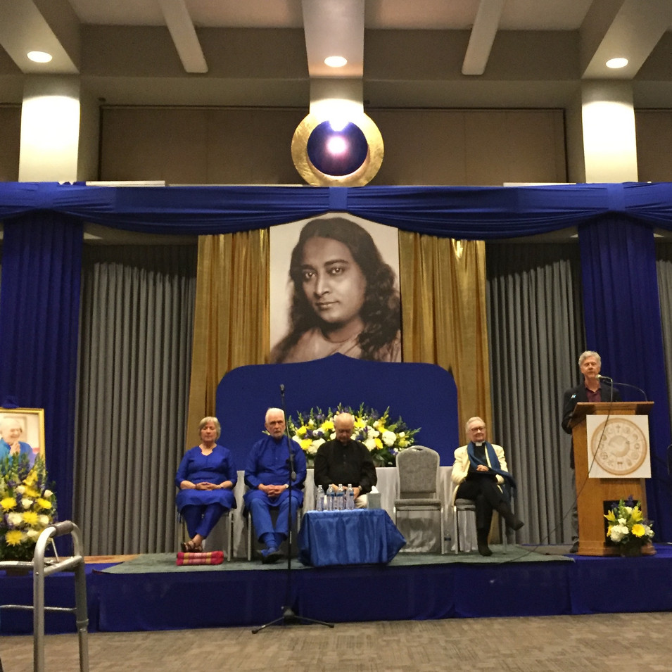 On a panel & presenting at Yogananda Fest 2018