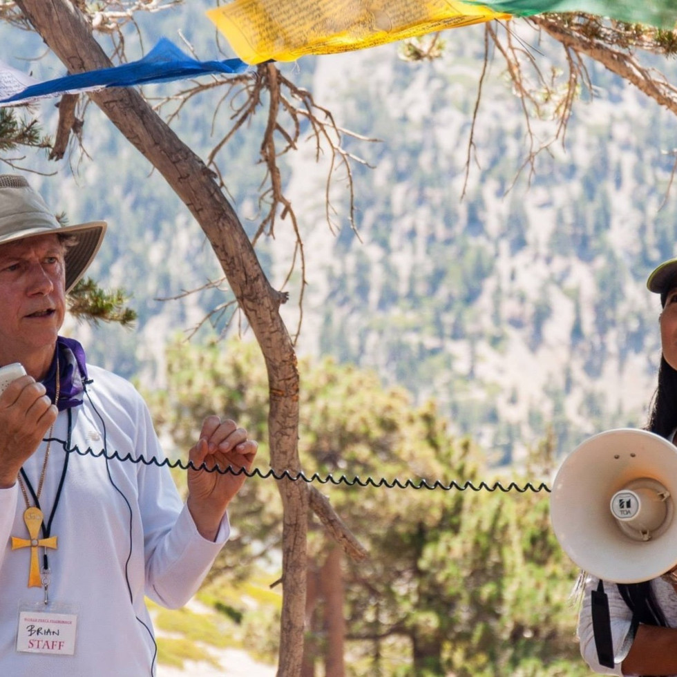 Presenting at a World Peace Pilgrimage on Mt. Baldy, USA