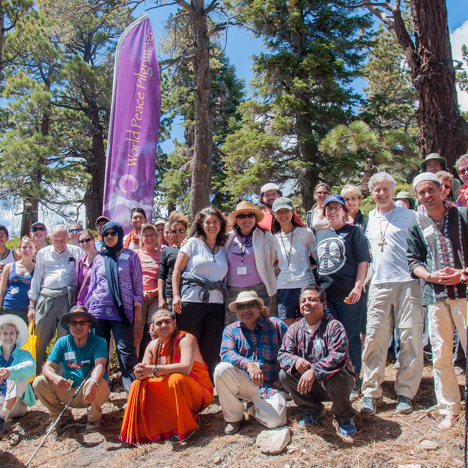 World Peace Pilgrimage on Mt. Baldy in Los Angeles, USA
